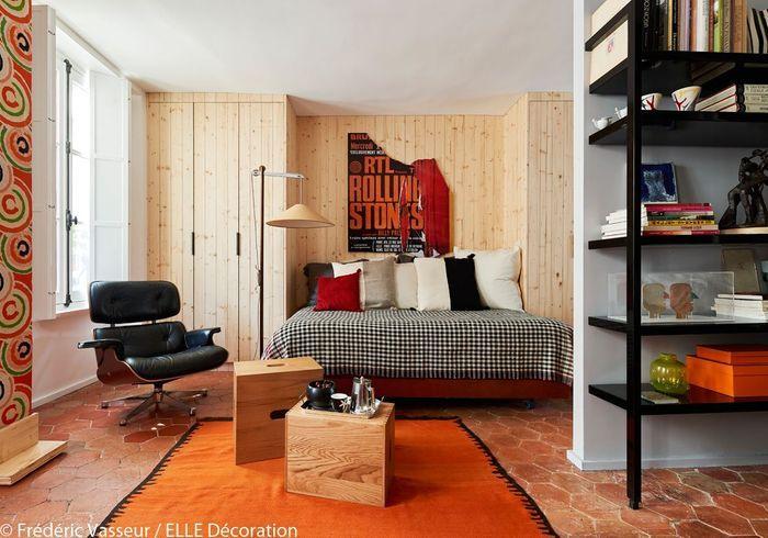 Un salon-chambre esprit nordique
