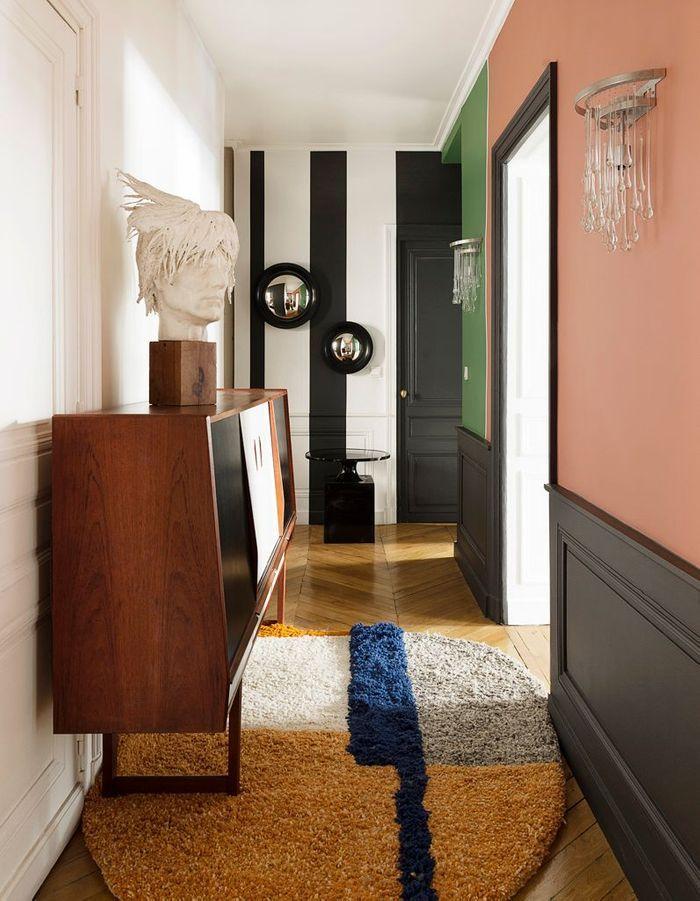 Un appartement somptueux comme une galerie elle d coration - Couleur couloir appartement ...