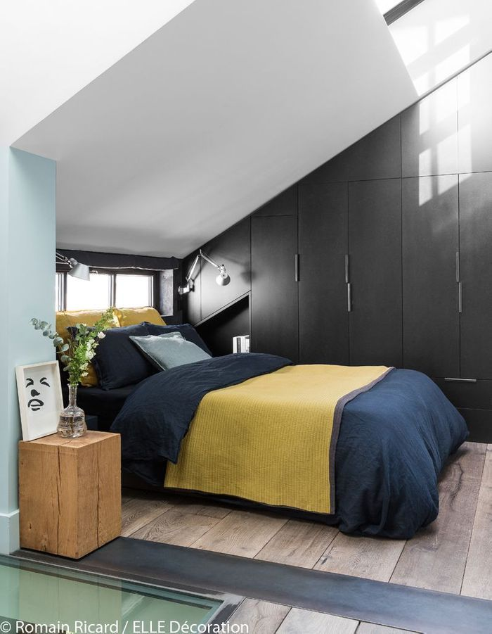 un triplex parisien la d co min rale elle d coration. Black Bedroom Furniture Sets. Home Design Ideas