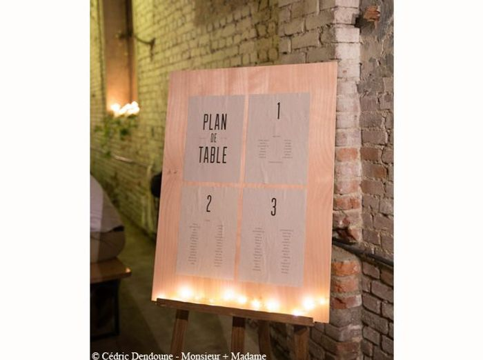 Un plan de table illuminé