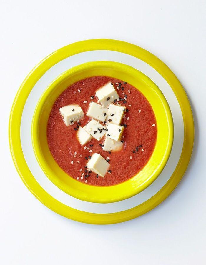 Soupe minceur la cr me de tomate au tofu des soupes - Cuisine de a a z minceur ...