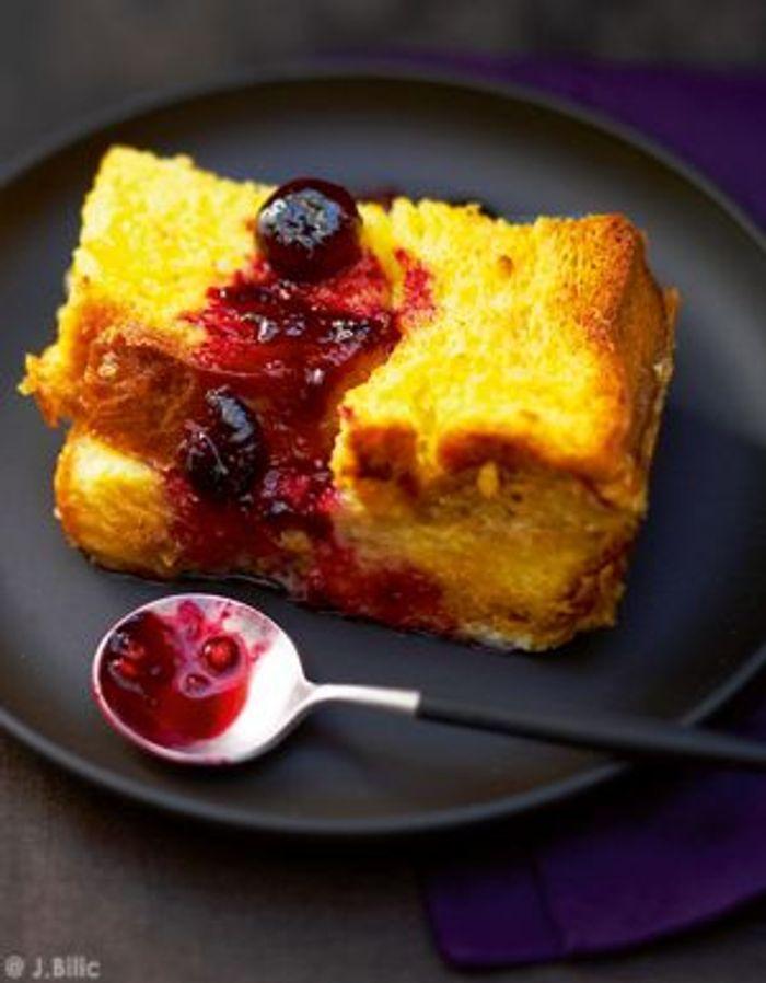 Pudding aux fruits rouges