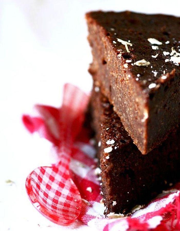 Fondant chocolat et purée de noisette sans gluten