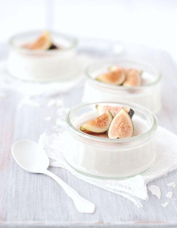 Panna cotta noix de coco beaux et gourmands 17 desserts blancs elle table - Panna cotta noix de coco ...