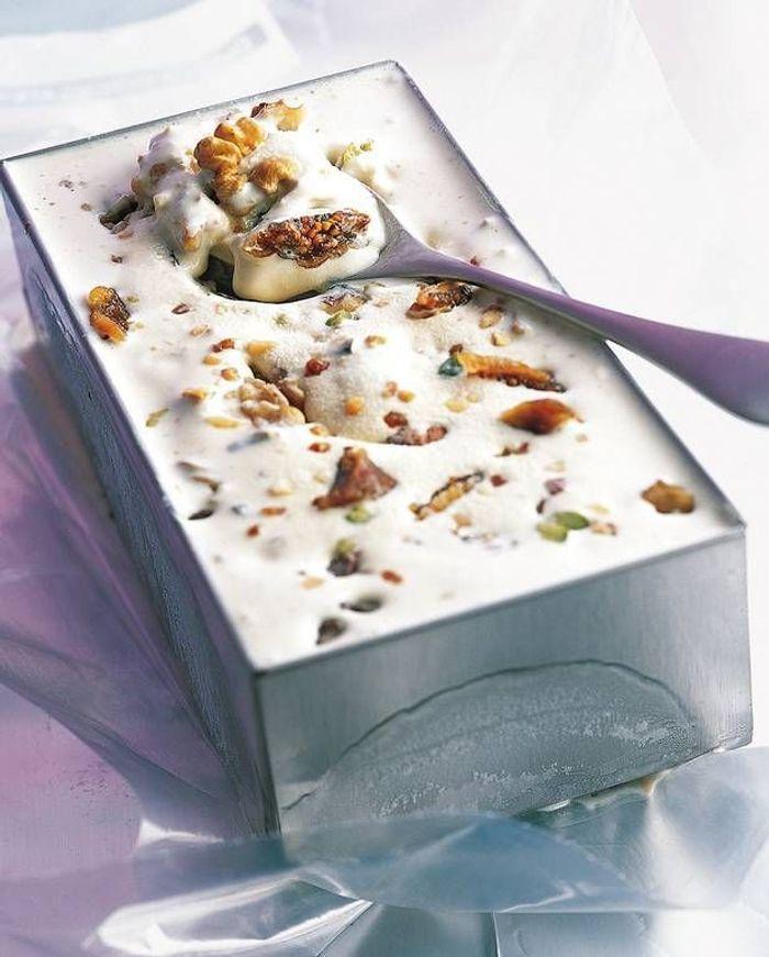 Dessert automne glacé