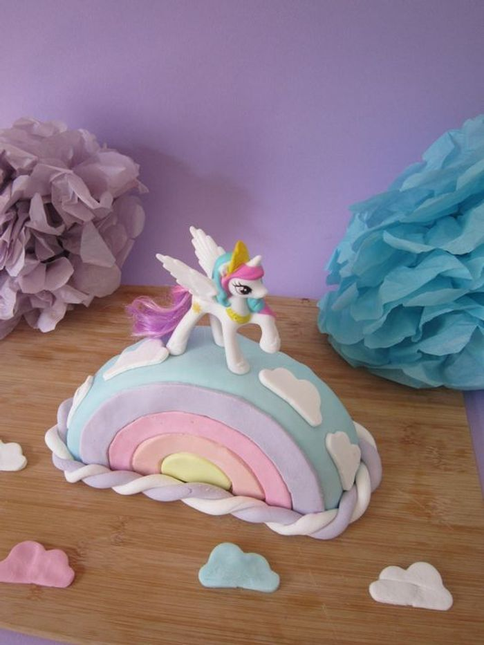G teau licorne arc en ciel 10 id es de g teaux licorne for Decoration gateau licorne