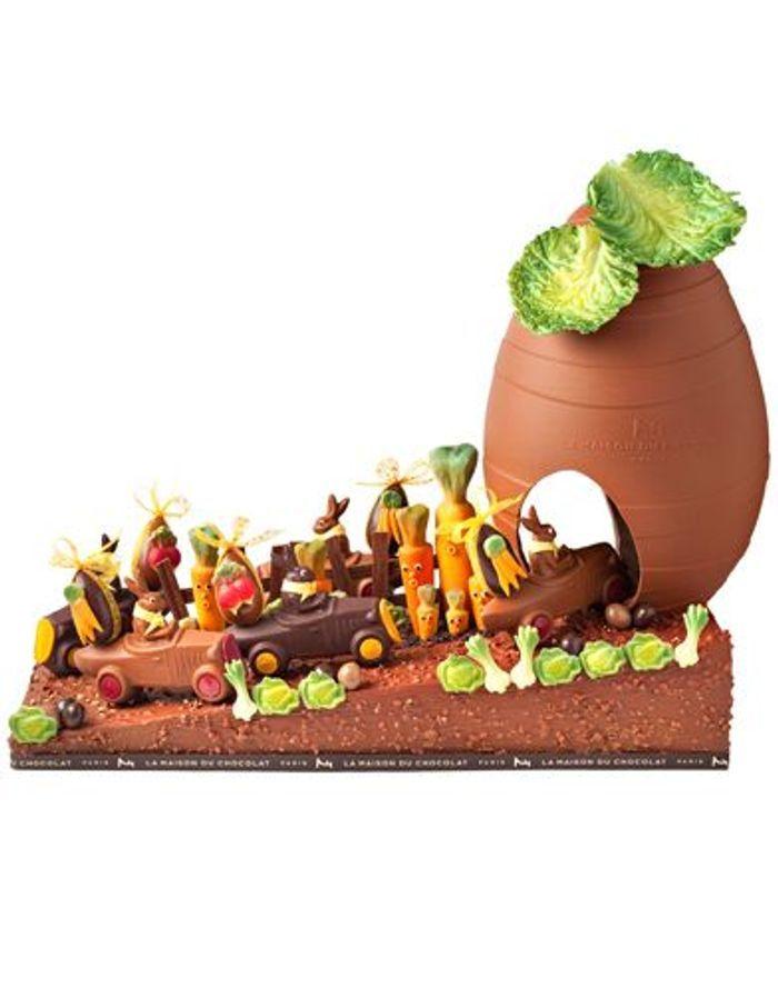 Le potager pascal de la maison du chocolat p ques 2011 p ques qui de l oe - La maison de la poule ...