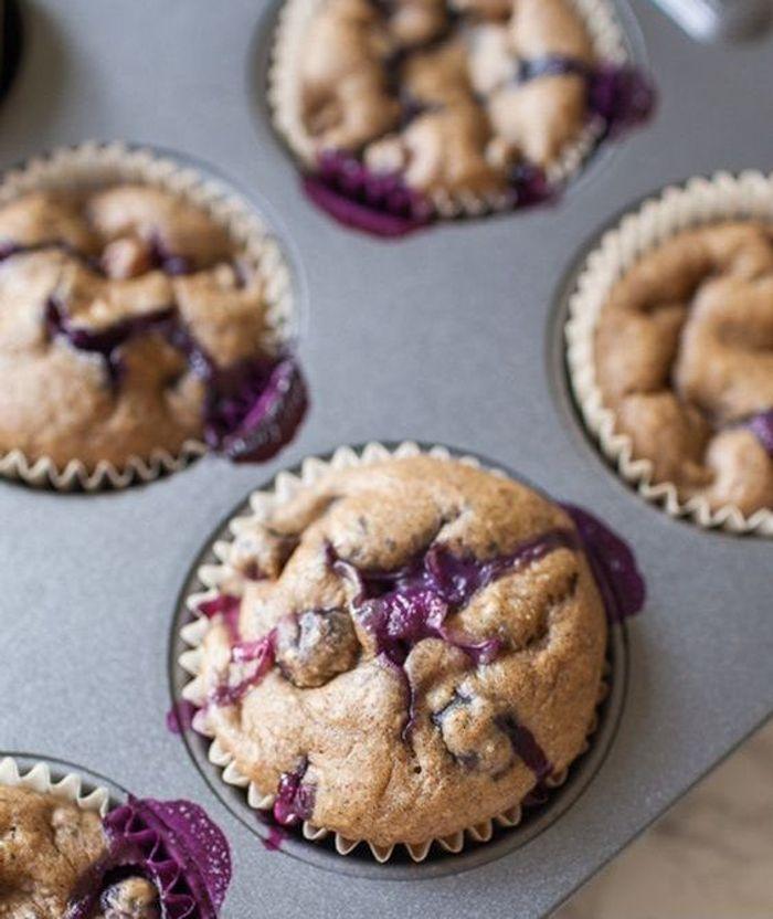 Muffins aux myrtilles sans sucre ajout des recettes sans sucre ajout pour le petit d jeuner - Recette pour petit dejeuner ...