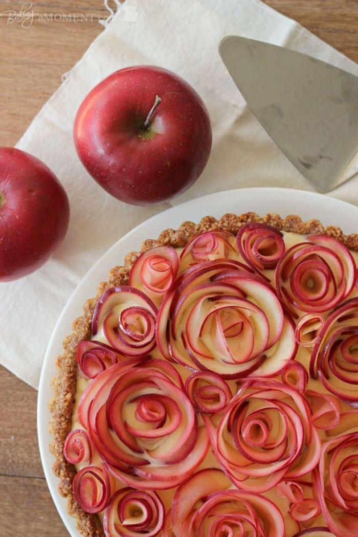 Gateau fleur en pomme