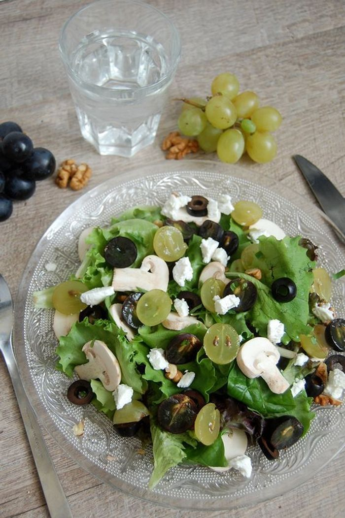 salade d automne champignons ces salades d automne manger toute la semaine elle table. Black Bedroom Furniture Sets. Home Design Ideas