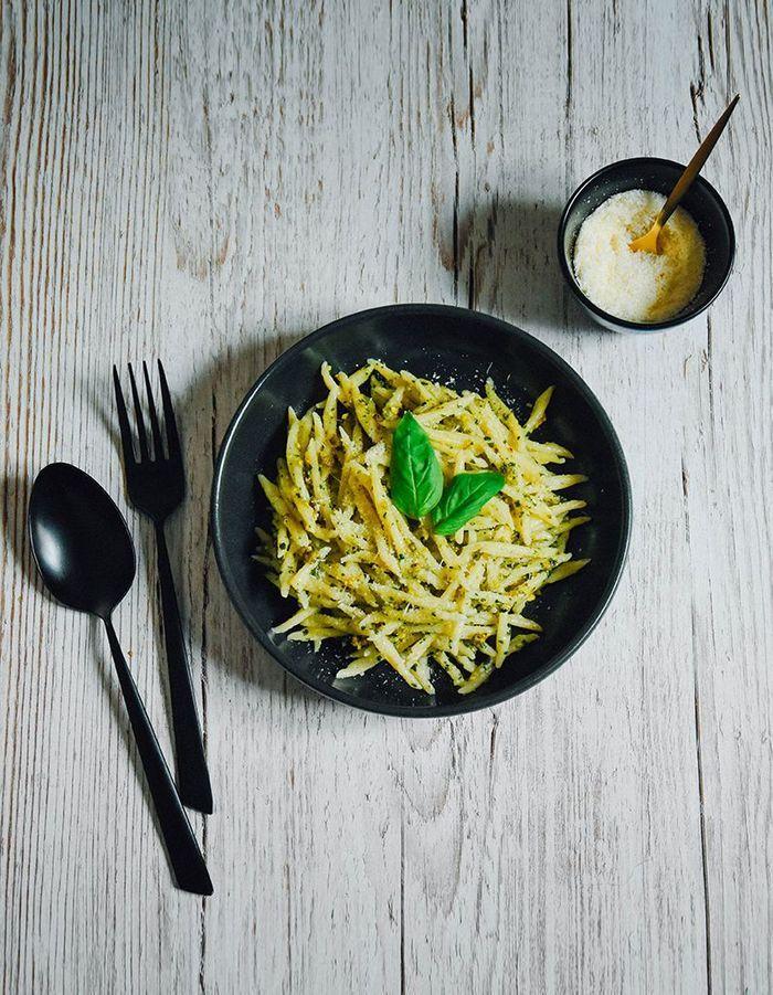 Pâtes au pesto pistache et basilic