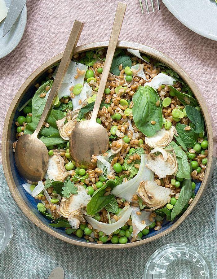 Salade d'épeautre aux petits pois