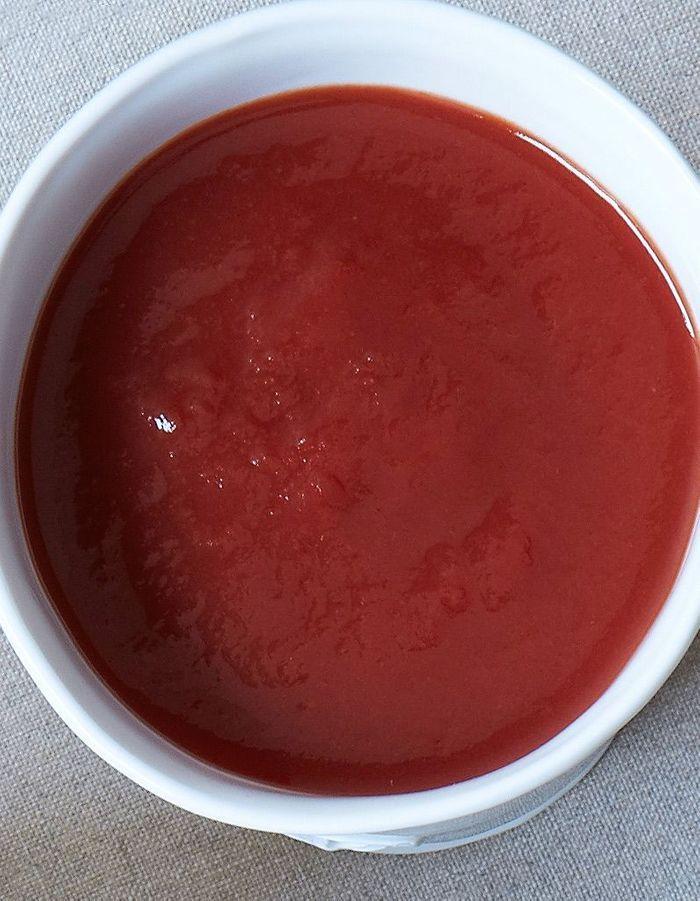 Velouté tomate façon pizza