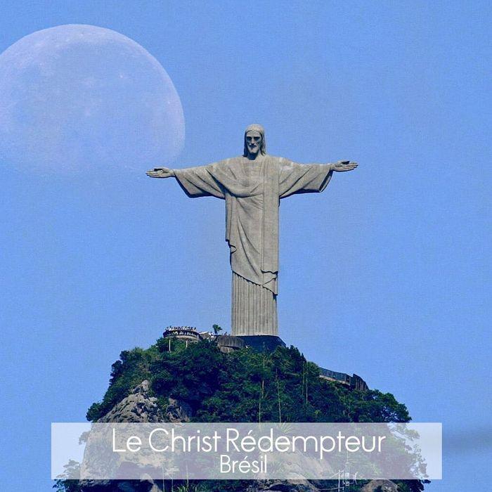 La statue du christ r dempteur rio de janeiro les 20 for Les monuments les plus connus du monde