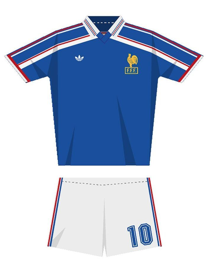 Le maillot de l quipe de france de football en 1986 for Maillot exterieur xv de france