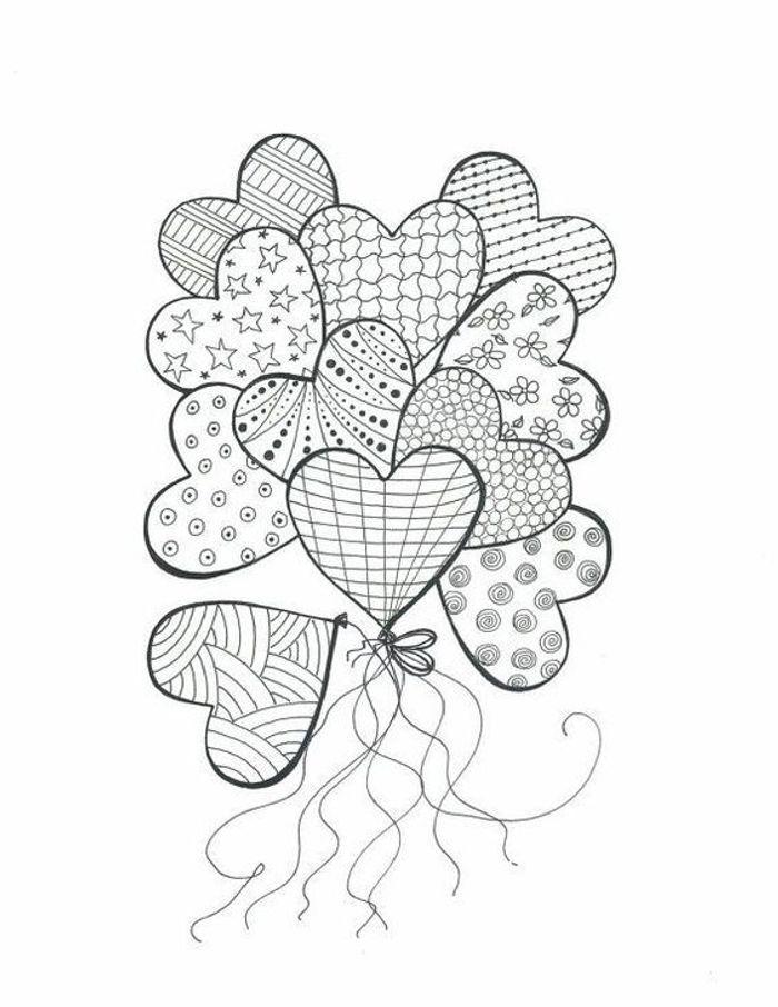 Coloriage fête des mères cœur - Coloriage fête des mères : faites le plein de dessin à imprimer ...