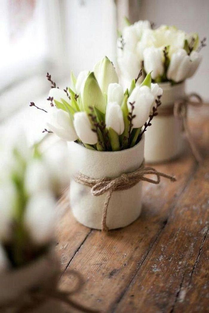 bouquet de fleurs blanches pour un mariage tendance 25. Black Bedroom Furniture Sets. Home Design Ideas