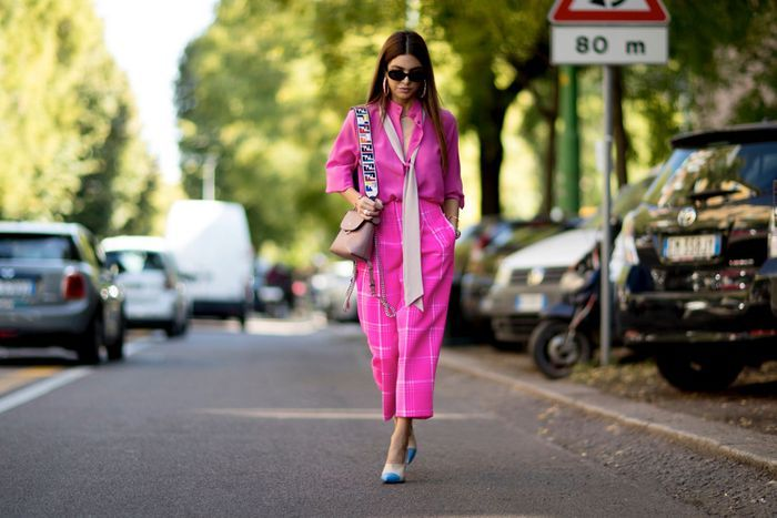 Un total look fuchsia