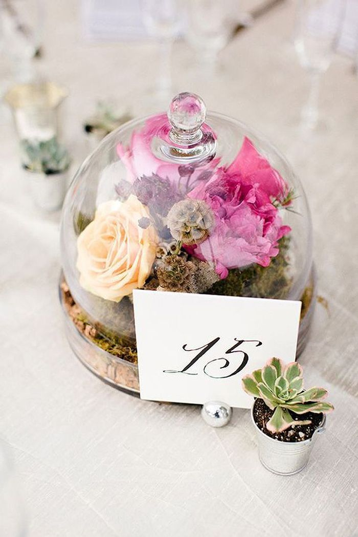 Composition florale centre de table mariage nos 20 id es de compositions florales copier elle - Composition florale centre de table ...