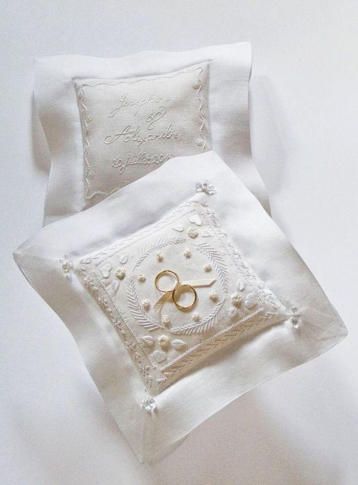 coussin alliance blanc le coussin d alliance quand l accessoire devient tendance elle. Black Bedroom Furniture Sets. Home Design Ideas