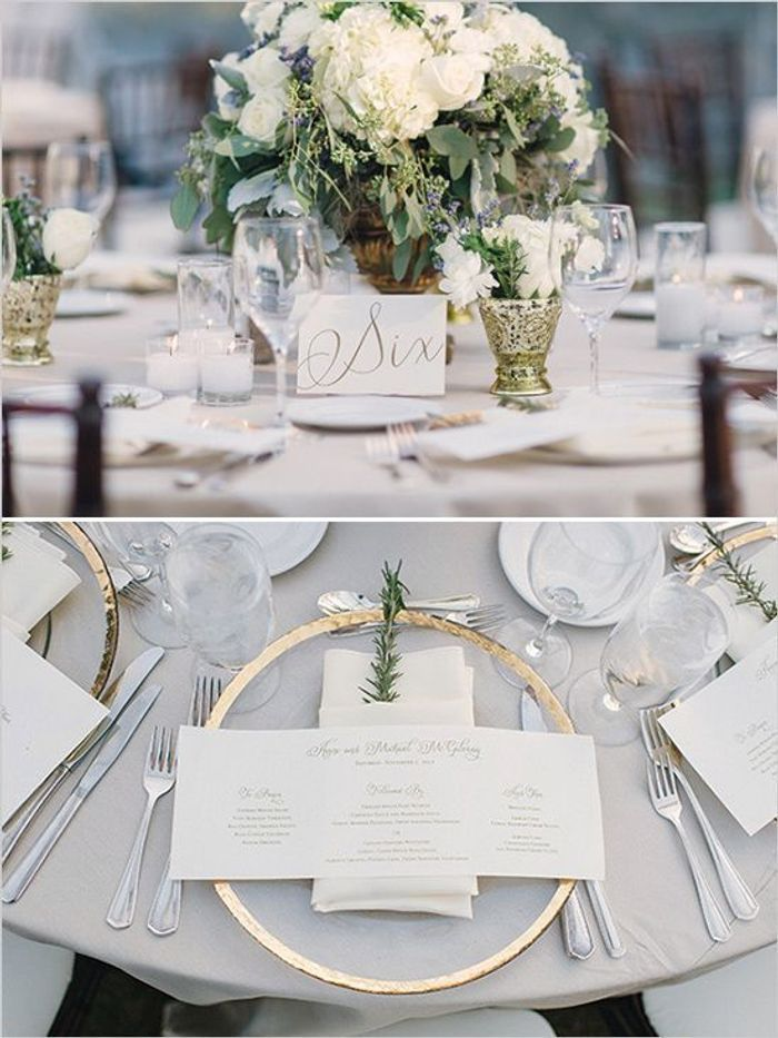Awesome Deco De Table Chic #4: Décoration De Table De Mariage Chic