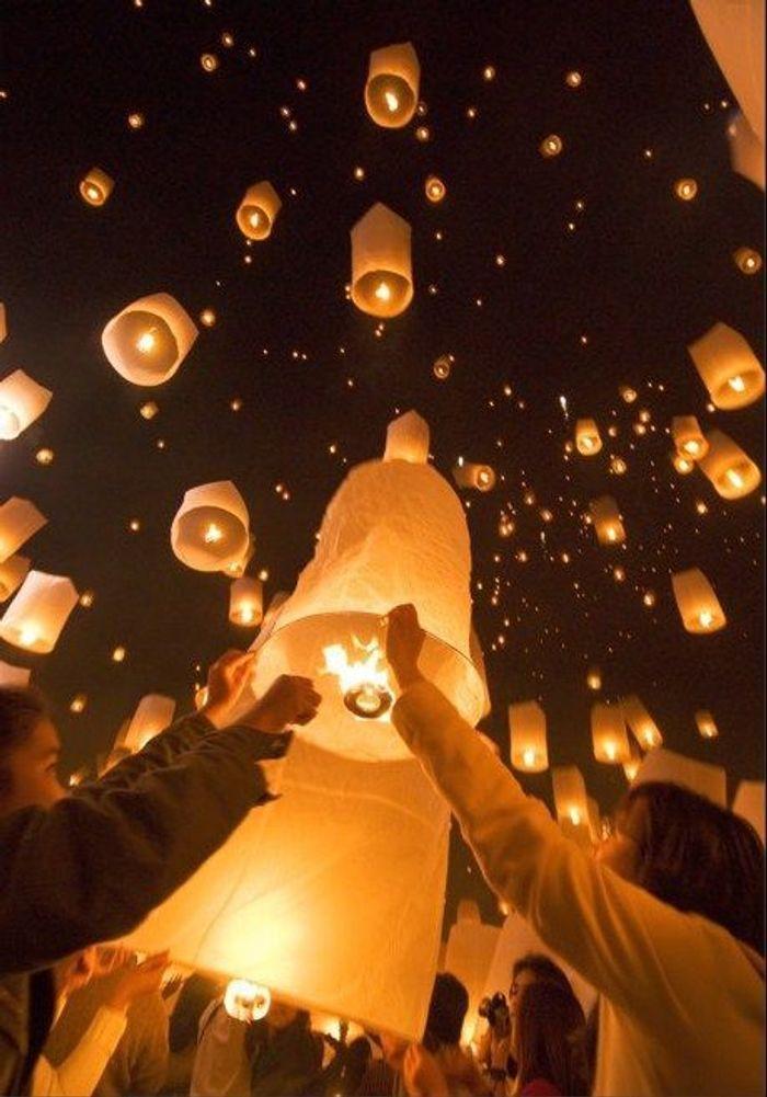 lanterne volante blanche - Lanterne Volante Mariage