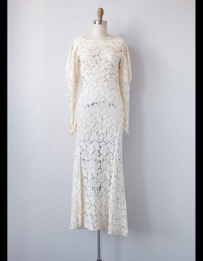 robe mi longue en dentelle adored vintage 50 robes de mari e qui changent elle. Black Bedroom Furniture Sets. Home Design Ideas