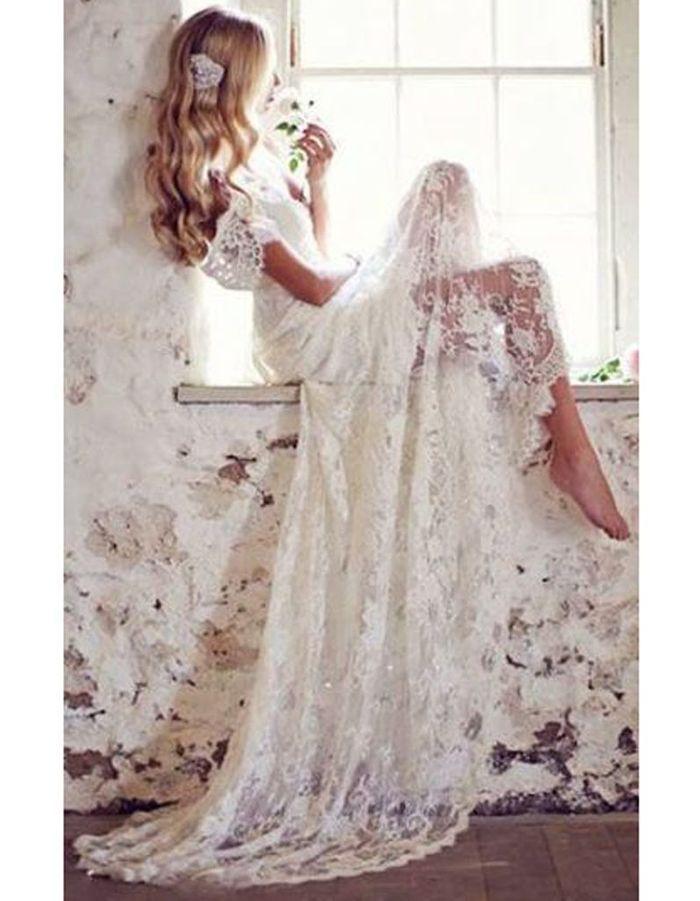 Robe de mari e dentelle transparente 30 robes de mari e for Sangles de dentelle de robe de mariage