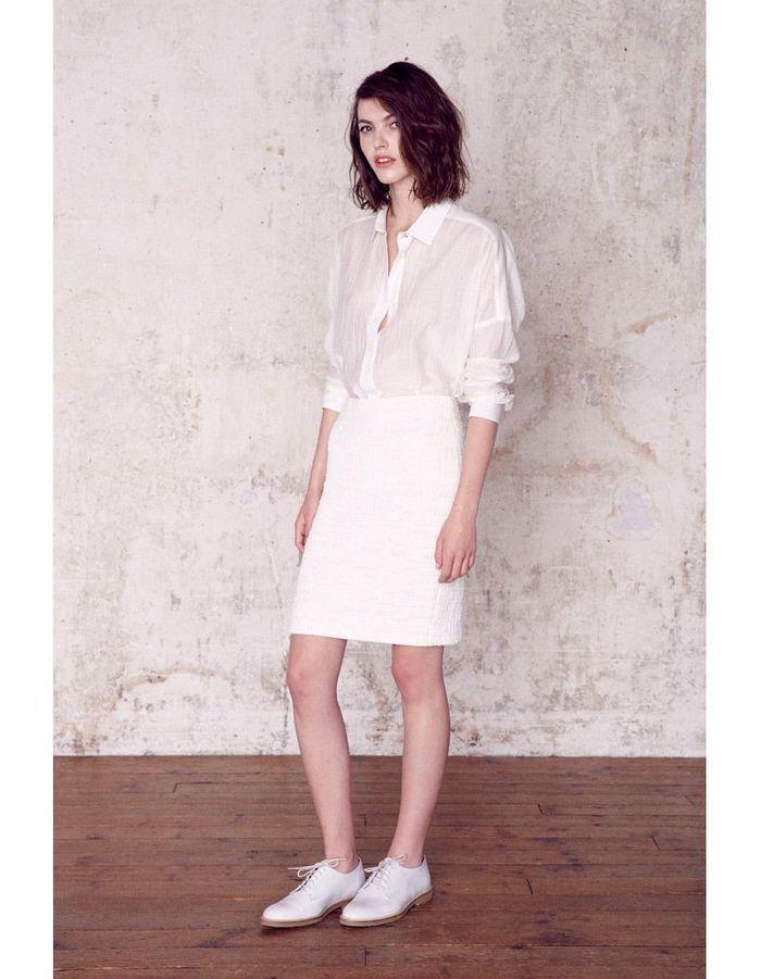 Chemise et jupe blanches sess n lance sa collection de for Robe de mariage et jupe