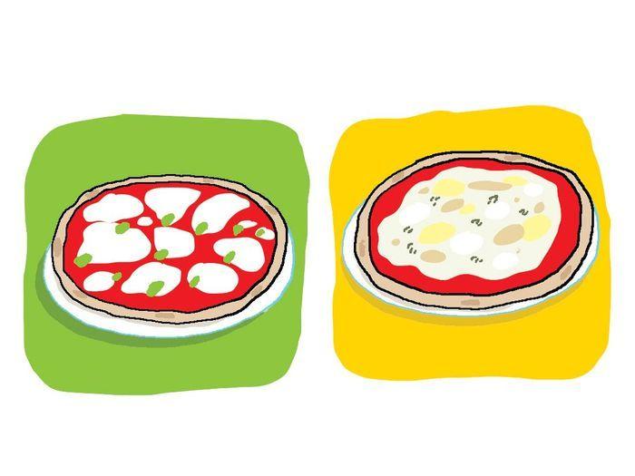 pizza margarita ou 4 fromages eclair ou baba faites le bon choix elle. Black Bedroom Furniture Sets. Home Design Ideas