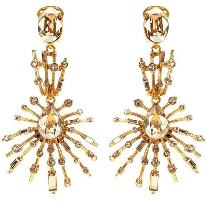 Boucles d'oreilles cristaux Oscar de la Renta