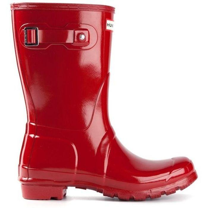 Bottes rouges de pluie Hunter