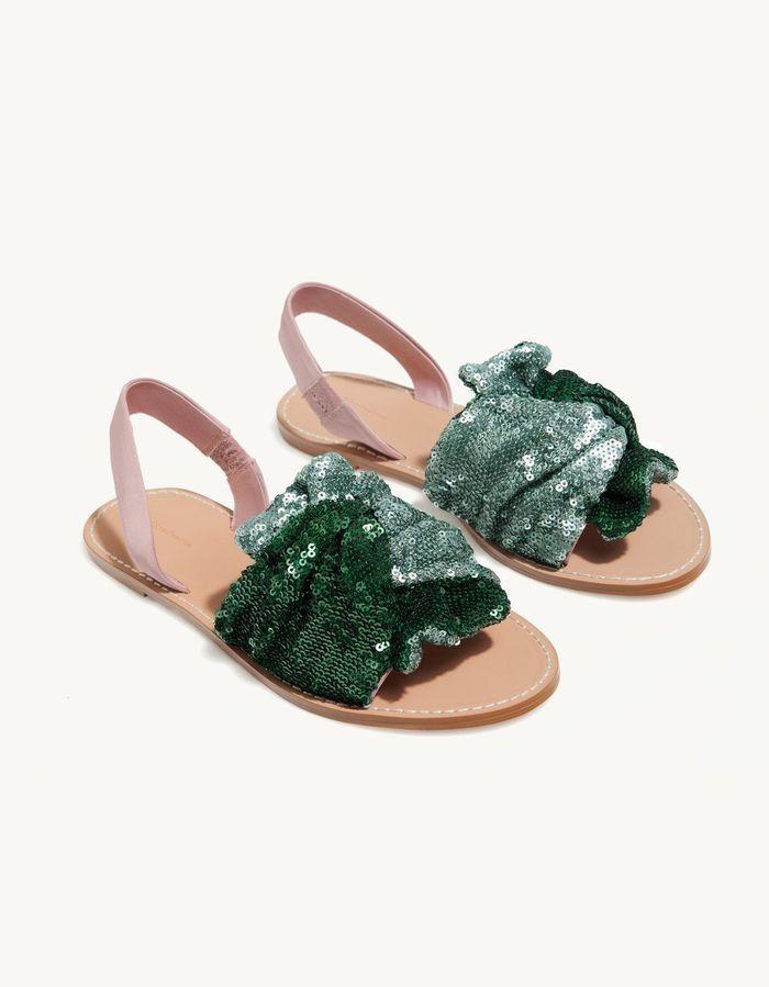 Sandales à paillettes Stradivarius