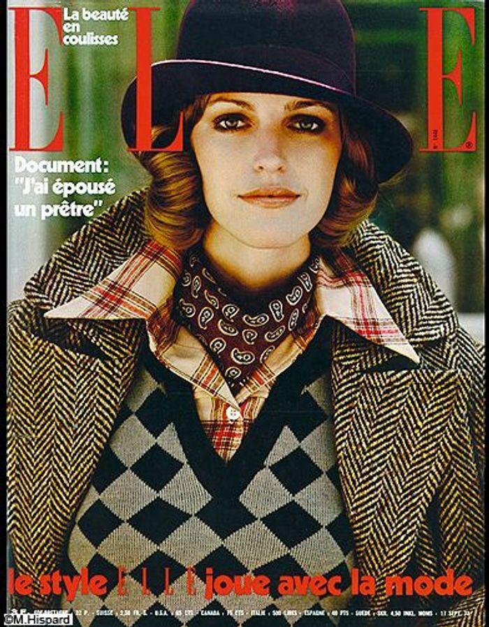 couverture elle magazine 1973 les plus belles couvertures de elle c l brent la journ e. Black Bedroom Furniture Sets. Home Design Ideas