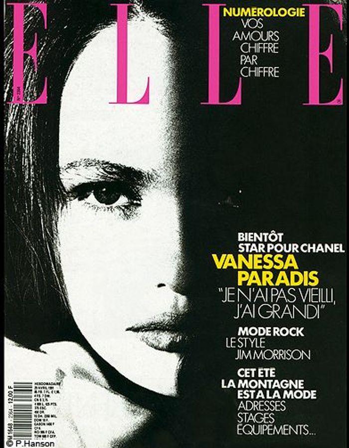 couverture elle magazine 1981 avec vanessa paradis les plus belles couvertures de elle. Black Bedroom Furniture Sets. Home Design Ideas