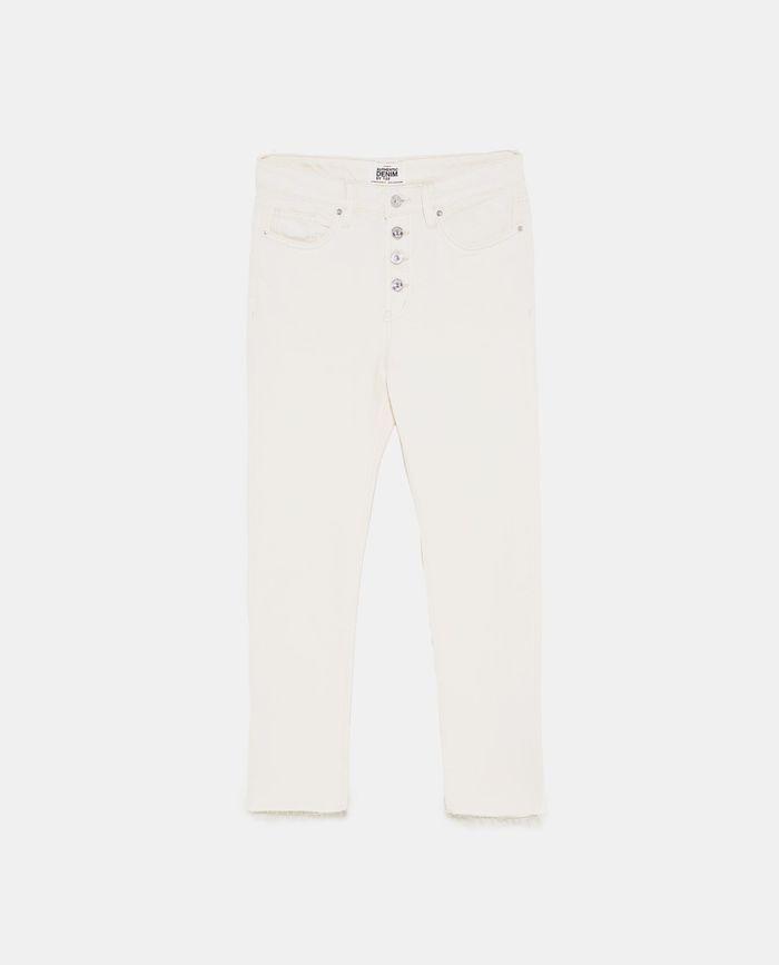Jean taille haute blanc Zara