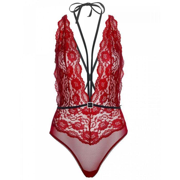 Lingerie rouge body string dos nu Leg Avenue