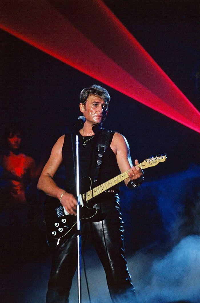 Johnny Hallyday en 1990
