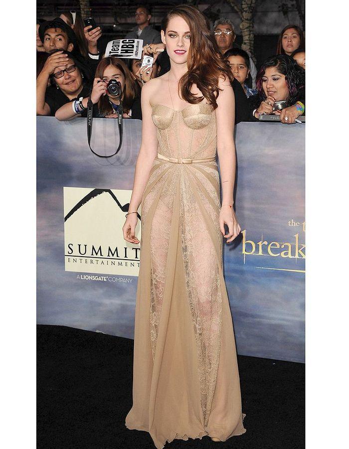 Kristen Stewart en robe transparente