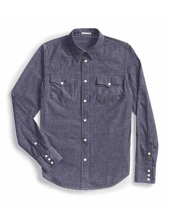 chemise en jean levi s comment porter la jupe midi sans. Black Bedroom Furniture Sets. Home Design Ideas