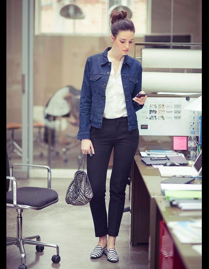 la pi 232 ce en jean la veste comment porter le jean au bureau