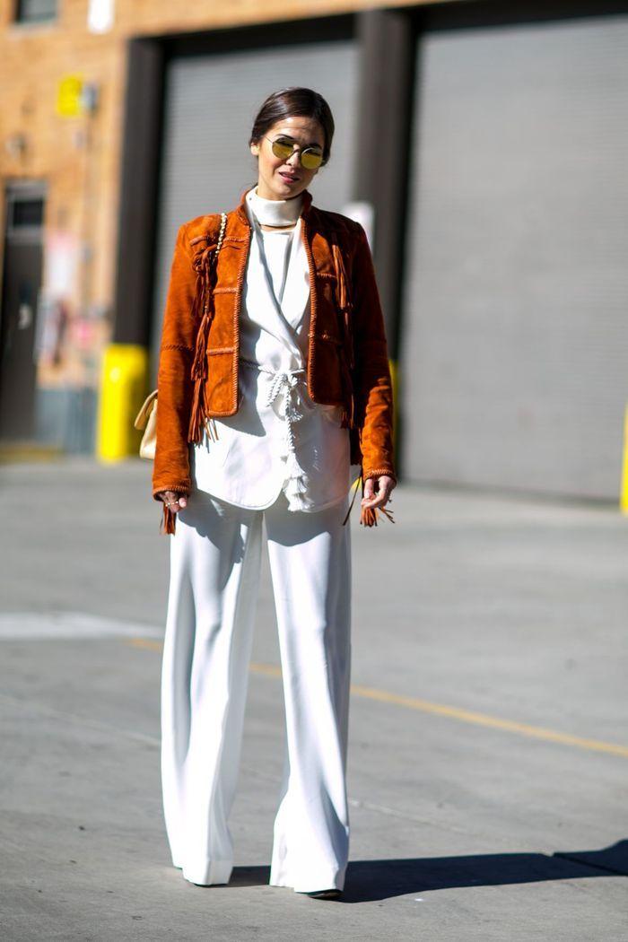 Street style 20 fa ons de porter le blanc cet hiver elle for Les portent claquent