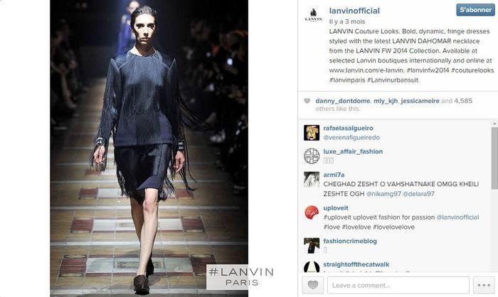 Lanvin les 101 comptes instagram suivre pendant la fashion week elle - Qui suivre sur instagram ...