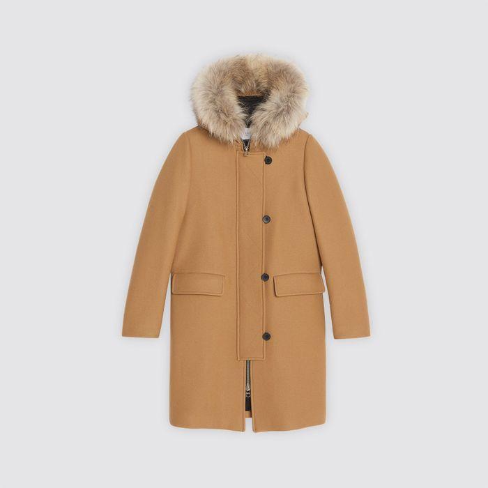 manteau femme sandro 50 manteaux pour passer l hiver au chaud elle. Black Bedroom Furniture Sets. Home Design Ideas
