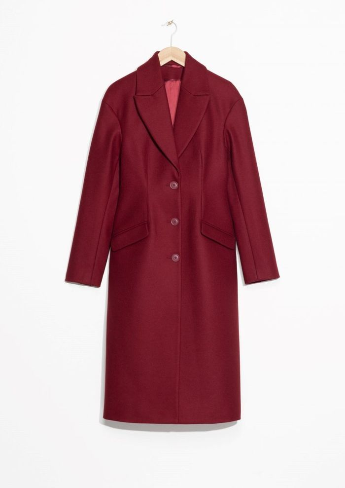 Manteau rouge en laine & Other Stories
