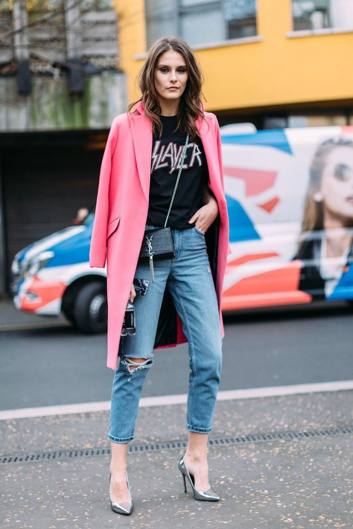 Un manteau léger rose