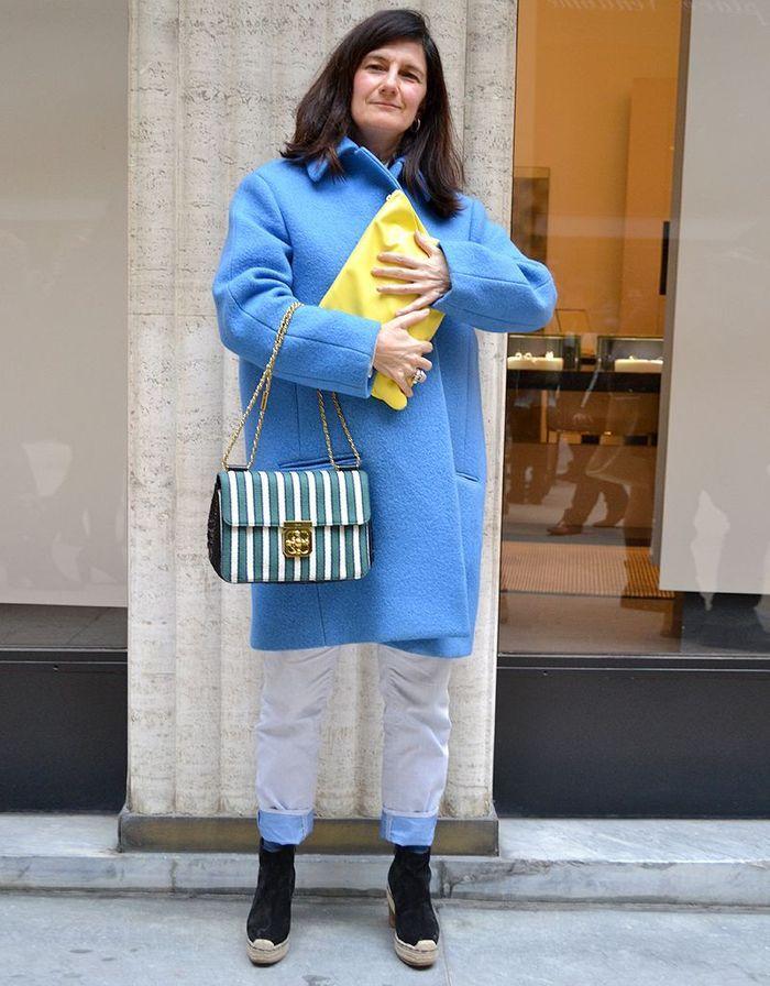 Sophie Fontanel Street Style Fashion Week Street Style La Tenue De Fashion Week Des Filles