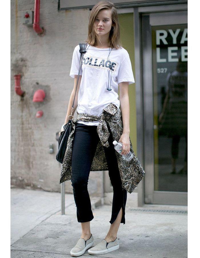 Slip On Street Style Fashion Week Les 14 Nouveaux Mix