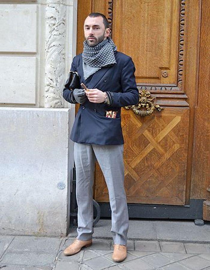 mode street style homme look tendances defiles haute couture paris 52 street style les mecs. Black Bedroom Furniture Sets. Home Design Ideas