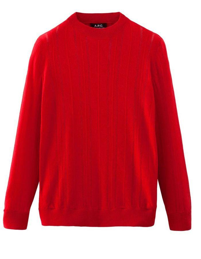 pull cachemire femme rouge a p c 20 pulls en cachemire pour adoucir l 39 hiver elle. Black Bedroom Furniture Sets. Home Design Ideas